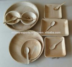 Disposable Areca palm leaf Plates Biodegradable Tableware Eco Friendly Party plates