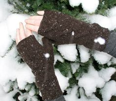 Cashmere fingerless gloves / wrist warmers by CrazyAboutGloves, £30.00