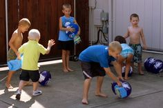 Photo 3 of 66: Scooby Doo / Birthday Clues hidden inside balloons.  Kids have to pop the balloons