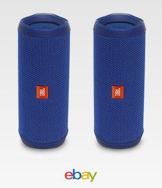 JBL Flip 4 Portable Waterproof Bluetooth Speaker - Pair (Blue)