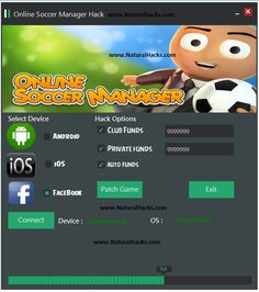 Online Soccer Manager Hack Tool Cheat Android iOS Free No Survey