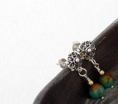 Silver Turquoise Earrings 925 Sterling Silver Turquoise Jewelry Southwestern Earrings Turquoise Stone Dangle Earrings by BeadIndulgences on Etsy