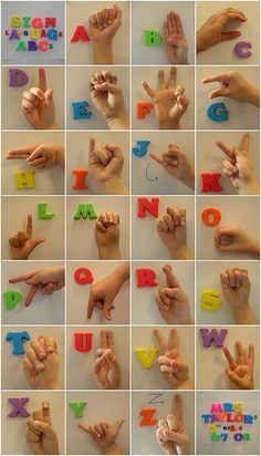Sign the letters of the alphabet.