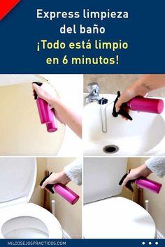 Express limpieza del baño. ¡Todo está limpio en 6 minutos! #limpieza #limpiar #baños #express #lavabo #inodoro