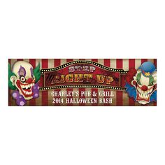 Medium Personalized Big Top Terror Banner - OrientalTrading.com