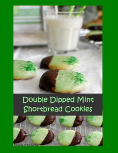 Double Dipped Mint Shortbread Cookies