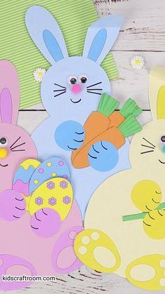 Easter Arts And Crafts, K Crafts, Diy Crafts To Do, Summer Crafts For Kids, Paper Crafts For Kids, Diy Arts And Crafts, Creative Crafts, Preschool Crafts, Rabbit Crafts