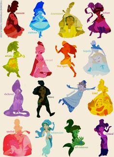 Disney princesses attributes