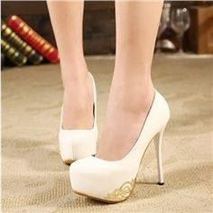 Fashion Sexy White High Heel Prom Shoes