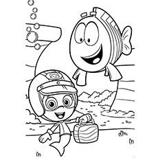 bubble guppies coloring picture | coloring pages | pinterest ... - Bubble Guppies Coloring Pages Goby