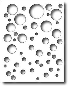 *Simon Says Stamp FULL CARD BUBBLES Craft DIE S152 [love this layout of circles]