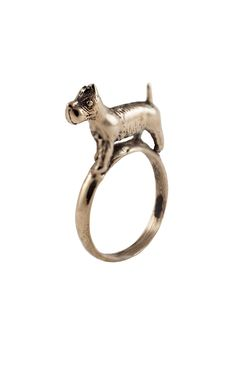Scotty Dog Ring by LAB by Laura Busony