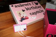 Minnie Mouse Birthday Party Time Capsule