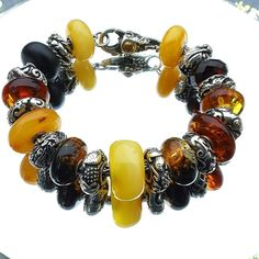 Amber and Chinese Silver
