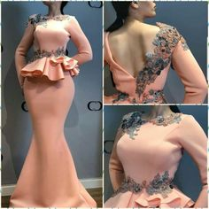 Maybe cream with some nice Batik fabric detailing. Very gor - Salvabrani Lace Dress Styles, African Lace Dresses, African Fashion Dresses, Fashion Outfits, Vestido Charro, Casual Chique, Evening Dresses With Sleeves, African Traditional Dresses, Pink Prom Dresses