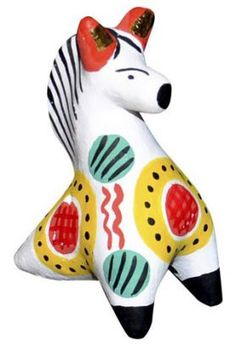 "Дымковская игрушка ""Конек-горбунок"" Air Dry Clay, Russian Art, Sculpting, Dinosaur Stuffed Animal, Folk, Artsy, Ceramics, Homemade, Traditional"