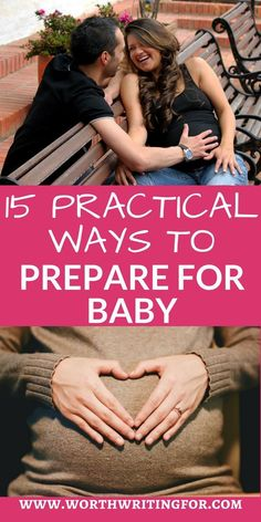 15 Practical Ways to Prepare for Baby - Pregnant and preparing for baby to arrive? Check out these 15 practical ways to prepare for baby! Getting Ready For Baby, Preparing For Baby, Morning Sickness, Third Trimester, After Baby, Pregnant Mom, Beyonce Pregnant, All Family, Family Life