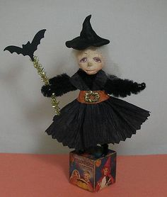 Vintage inspired halloween witch