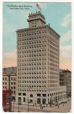 Salt Lake City Utah c1912 Walker Bank Building Eames and Young Architec