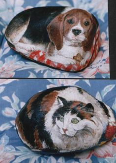 painted rock begal dog