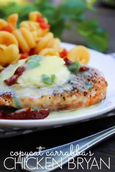 This Copycat Carrabba's Chicken Bryan recipe comes out tender and covered in the…