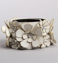 Stone Flower Cut Out Cuff