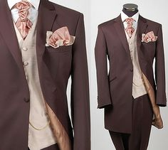 Hmmm, color scheme...thoughts? Brown Wedding Suits
