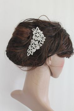 Vintage inspired wedding hair comb,bridal hair comb,crystal wedding comb,rhinestone bridal comb,wedding headpiece,wedding hair accessory on Etsy, $45.00