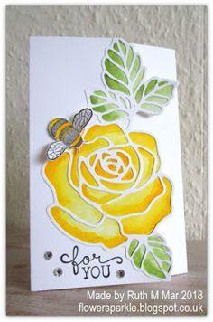 Rose Wonder gatefold card - CASE of this card made by Patrice Halliday-Larsen https://www.pinterest.co.uk/pin/177751516527390713/