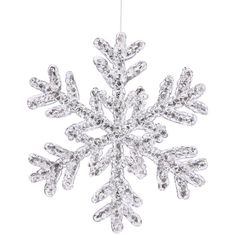 Vickerman Christmas Trees P118108 Snowflakes Crystal Ornament, 8-Inch,... ❤ liked on Polyvore featuring home, home decor, holiday decorations, winter, christmas, filler, silver christmas tree ornaments, xmas tree ornaments, christmas holiday decor and crystal christmas ornaments