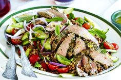Try something new this summer with this delicious parsley-crusted lamb with lentil salad.