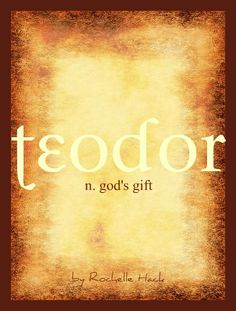 Baby Boy Name: Teodor. Meaning: God's Gift. Origin: Romanian form of the Greek Name Theodore. http://www.pinterest.com/vintagedaydream/baby-names/