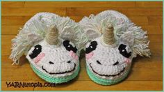 Crochet Tutorial: Unicorn Slippers - YARNutopia by Nadia Fuad Crochet Cat Toys, Crochet Unicorn, Crochet Amigurumi Free Patterns, Crochet For Kids, Baby Boy Crochet Blanket, Crochet Baby Beanie, Kids Unicorn Slippers, Crochet Pillow Cases, Easy Crochet Blanket