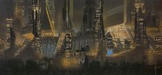 """Syd Mead's """"Bladerunner"""" concepts. Stark dystopian vision so powerful that I can't look away."""