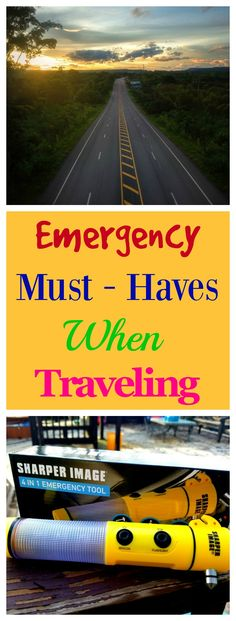 When we are on the road it's important that we make sure to have the right Emergency Must Haves When Traveling.
