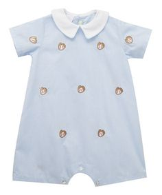 Loving this Blue Baseball Embroidered Romper - Infant on #zulily! #zulilyfinds