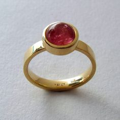 Pink Tourmaline & 18ct gold www.maryenright.com