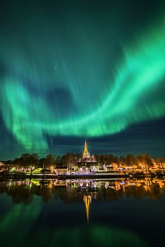 Amazing aurora over Trondheim, Norway by Aziz Nasuti