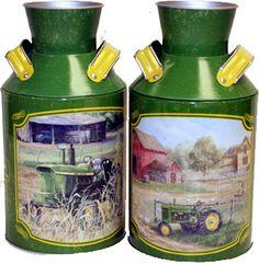 John Deere Cream Cans