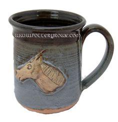 Thoroughbred Horse Head Coffee Mug