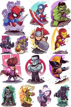 Marvel Characters by Derek Laufman