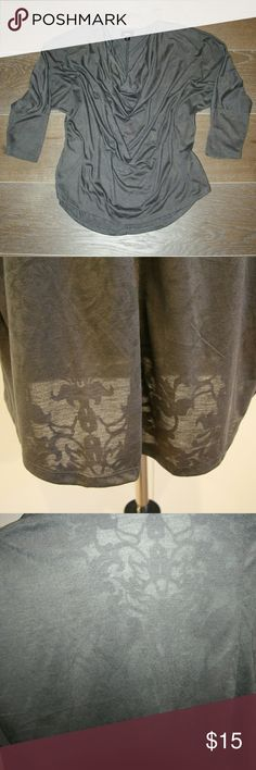 Mossimo Longsleeve Top Mossimo Longsleeve Top Lightweight fabric Heather grey with fleur de lis pattern  EUC. Only worn once. Practically new! Mossimo Supply Co Tops Blouses