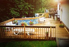 deck above ground pool pool decks rectangle above ground pool swimming pool ideas pinterest ground pools ba