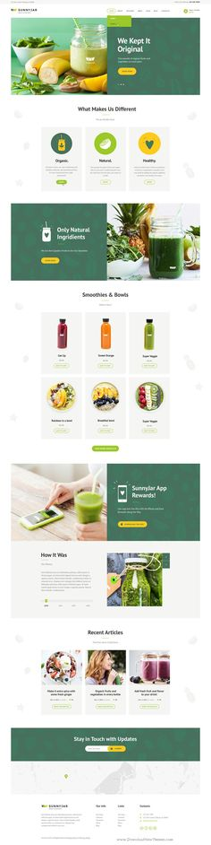 SunnyJar is wonderful WordPress #Theme for your Bawls & Smoothie Bar, Organic Cafe, Fruit & #Juice Bar, Snack #Bar or any kind of Healthy Food Shop #website. Download Now!