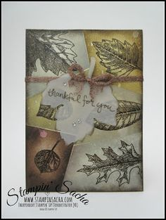 Stampin 'Up! Thanksgiving Cards, Cursed Child Book, Stampin Up, Birthday Cards, Vintage World Maps, Leaves, Handmade, Technology, Cards
