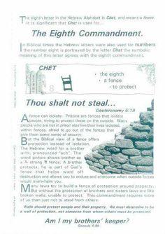 Covenant, 8th Commandment