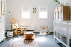 A Boston Interior Designer's Blend of Old & NewAlissa's nursery is smartly furnished with family heirlooms, vintage finds, local and international art, upgraded IKEA favorites, and custom-made pieces sure to become heirlooms. A rocker is an absolute must.