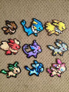Eeveelution Perler bead set by ClayForPay.deviantart.com on @deviantART
