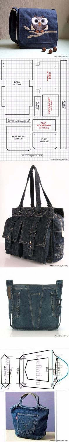Bag nail design using tape - Nail Desing Jean Purses, Diy Bags Purses, Denim Ideas, Denim Crafts, Handmade Bags, Handmade Leather, Vintage Leather, Bag Patterns To Sew, Recycled Denim