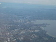 view of Melbourne from plane 25th Dec